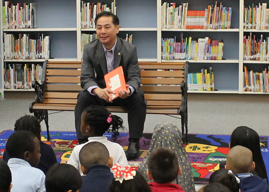 Hubert Vo Texas Representative District 149 with Students